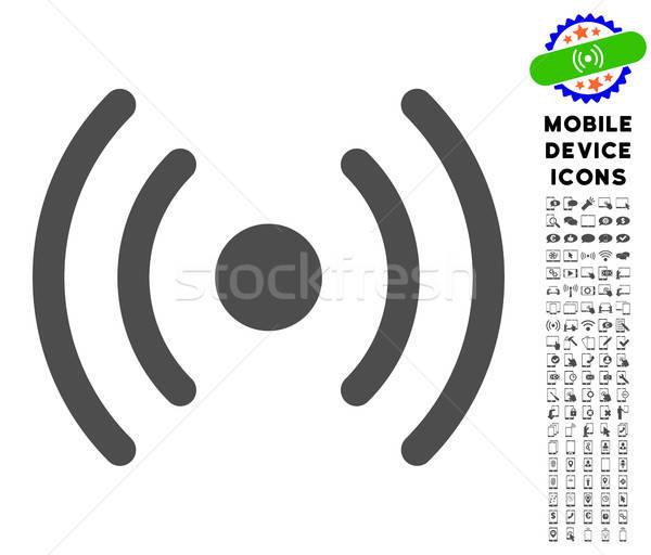 Wifi forrás ikon gyűjtemény ikon mobil csomag Stock fotó © ahasoft