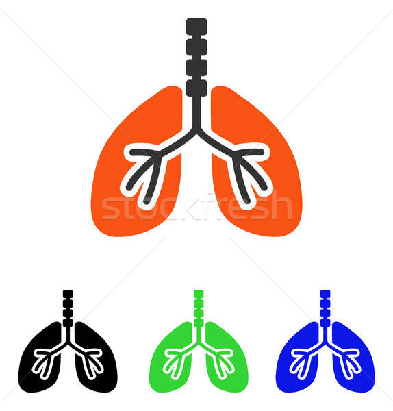 Breathe System Flat Vector Icon Stock photo © ahasoft
