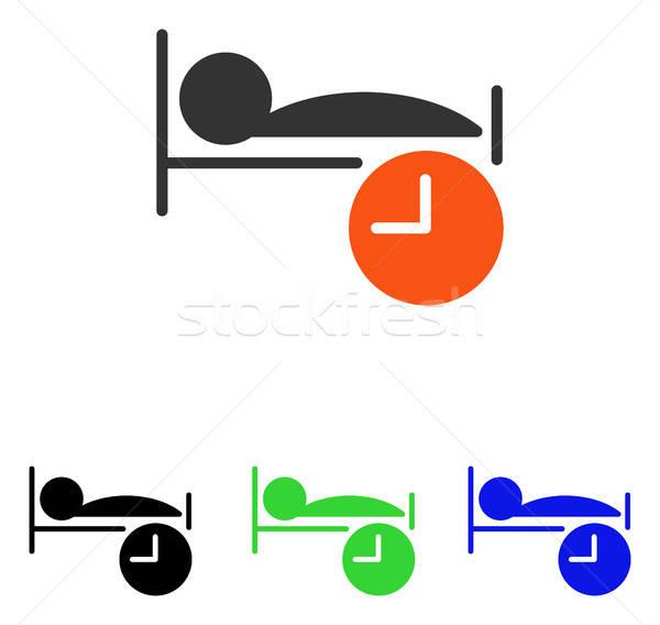Dormir tempo vetor ícone ilustração estilo Foto stock © ahasoft