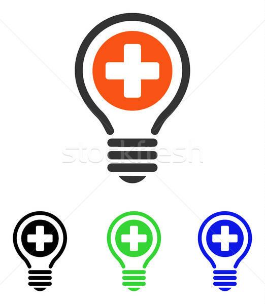 Medical Bulb Flat Vector Icon Stock photo © ahasoft