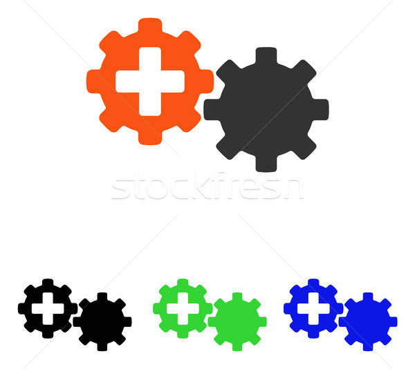 Medical Process Gears Flat Vector Icon Stock photo © ahasoft