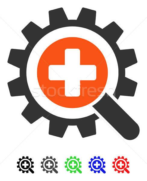 Bulmak tıbbi teknoloji ikon vektör renkli Stok fotoğraf © ahasoft
