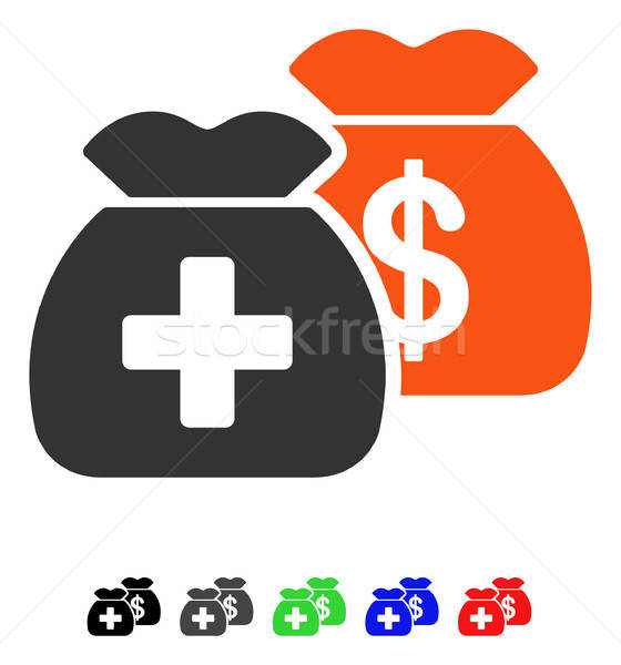 Health Care Funds Flat Icon Stock photo © ahasoft
