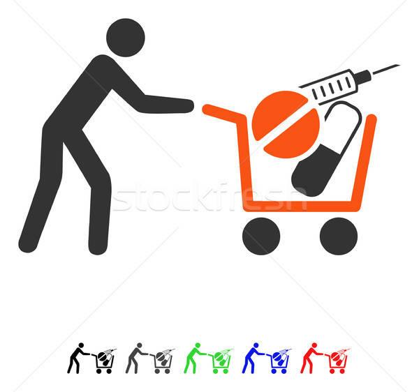 Medical Shopping Flat Icon Stock photo © ahasoft
