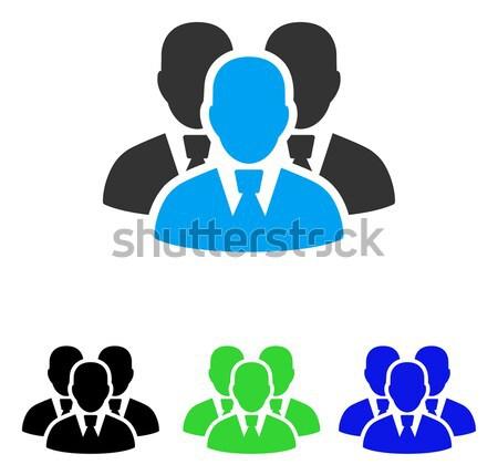 Menedzser csoport ikon vektor piktogram stílus Stock fotó © ahasoft