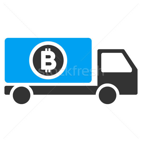 Bitcoin Delivery Truck Flat Icon Stock photo © ahasoft