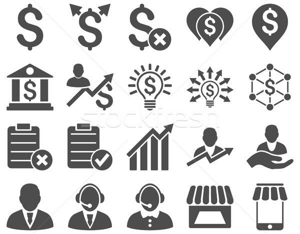 Trade business and bank service icon set Stock photo © ahasoft