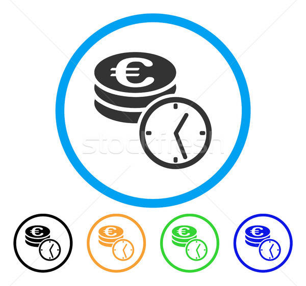 Euro Coins And Time Rounded Icon Stock photo © ahasoft
