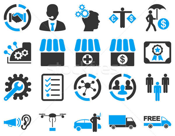 Business, trade, shipment icons.  Stock photo © ahasoft