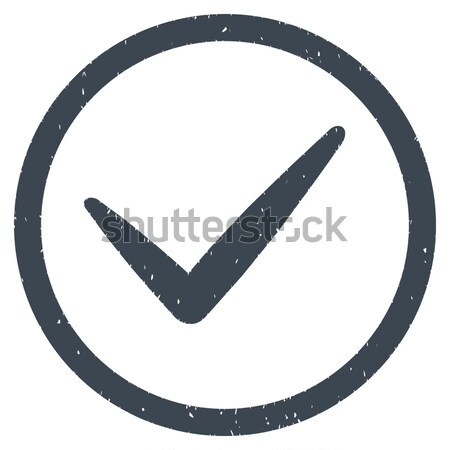 Yes flat black color rounded vector icon Stock photo © ahasoft