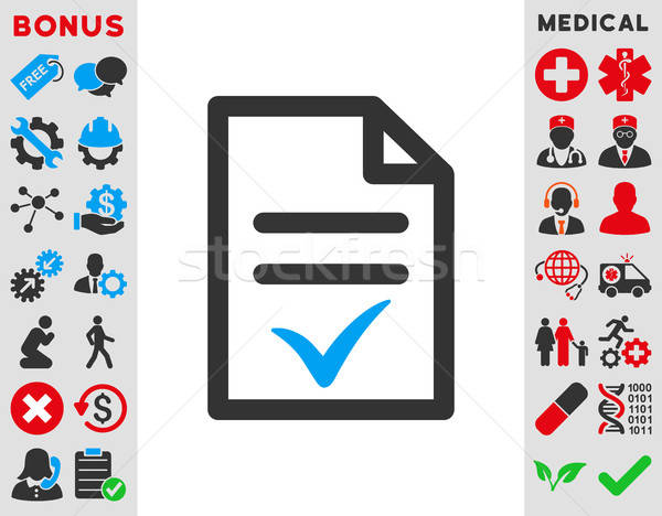 Valid Document Icon Stock photo © ahasoft