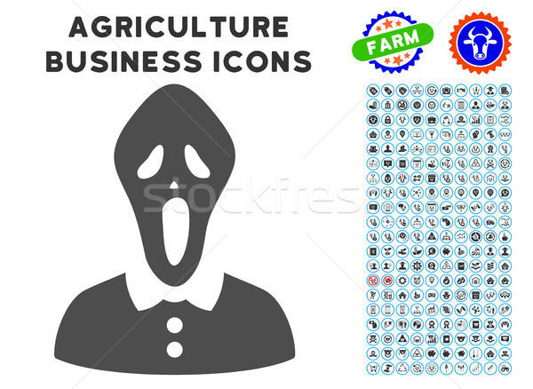 Horror Icon with Agriculture Set Stock photo © ahasoft