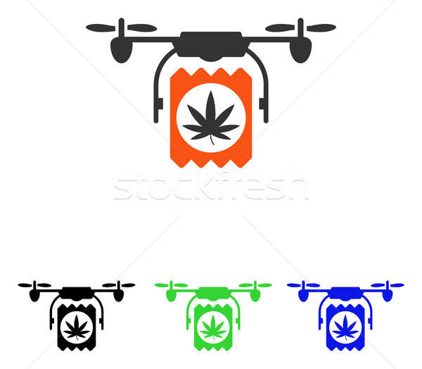 Drugs Drone Delivery Flat Vector Icon Stock photo © ahasoft