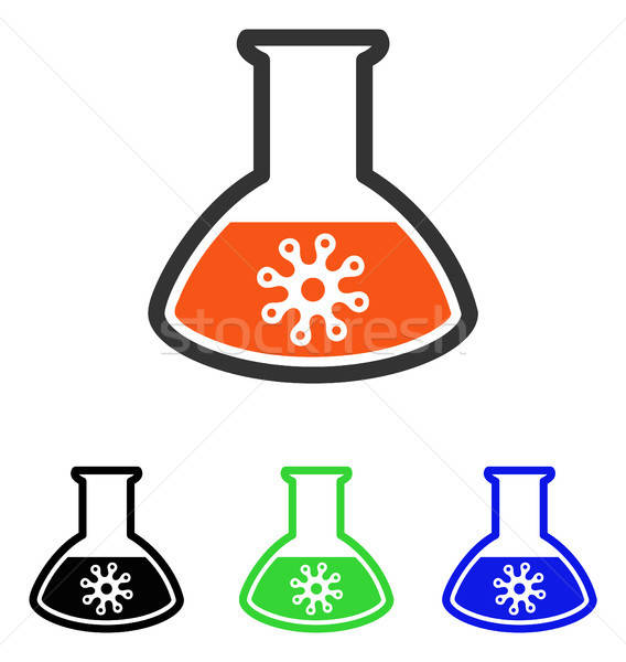 Infection Container Flat Vector Icon Stock photo © ahasoft