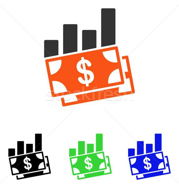 Ventes graphique à barres vecteur icône pictogramme illustration Photo stock © ahasoft