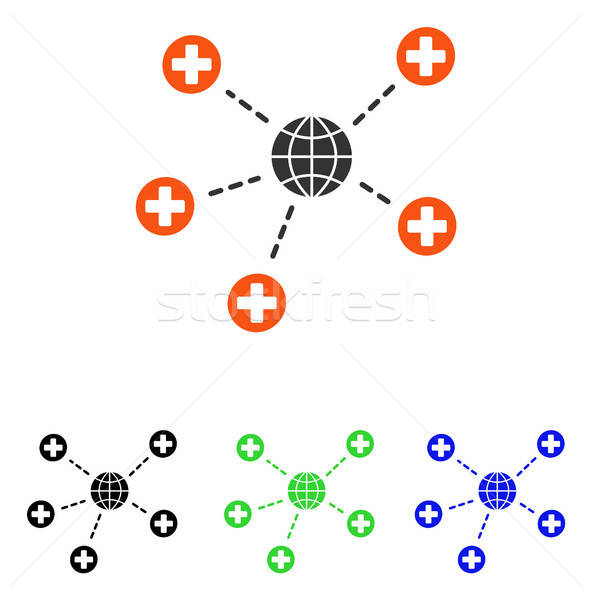 Global Medical Relations Flat Vector Icon Stock photo © ahasoft