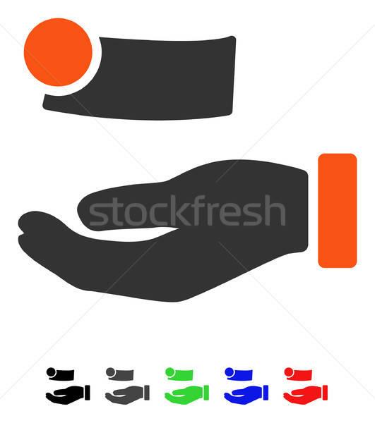 деньги оплата икона вектора цвета Сток-фото © ahasoft
