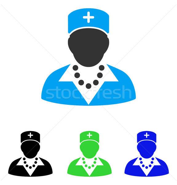 Pielęgniarki ikona wektora piktogram stylu graficzne Zdjęcia stock © ahasoft