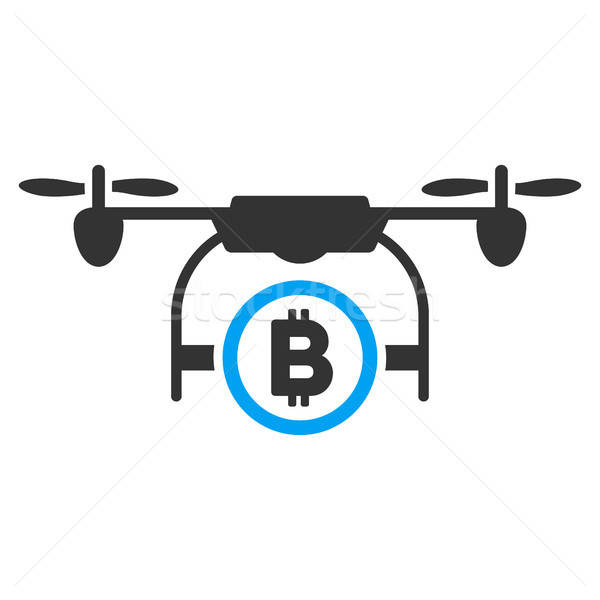 Bitcoin Airdrone Flat Icon Stock photo © ahasoft