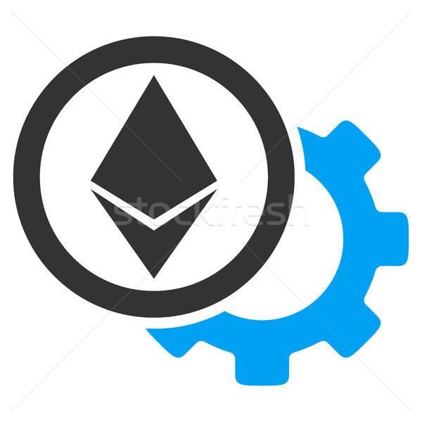 Ethereum Options Cogwheel Flat Icon Stock photo © ahasoft