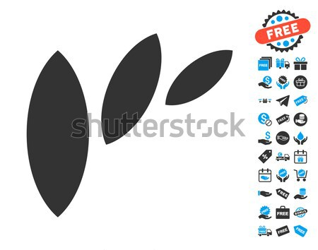 Flora Leaf Abstraction Flat Icon Stock photo © ahasoft