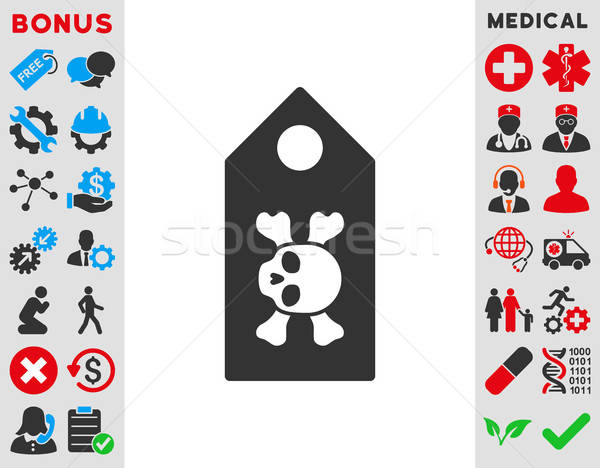 Morte etiqueta ícone vetor estilo símbolo Foto stock © ahasoft