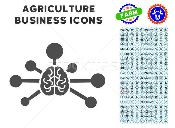 Geest controle links icon landbouw ingesteld Stockfoto © ahasoft
