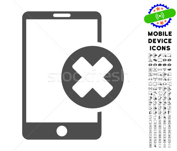 Phone Cancel Icon with Set Stock photo © ahasoft