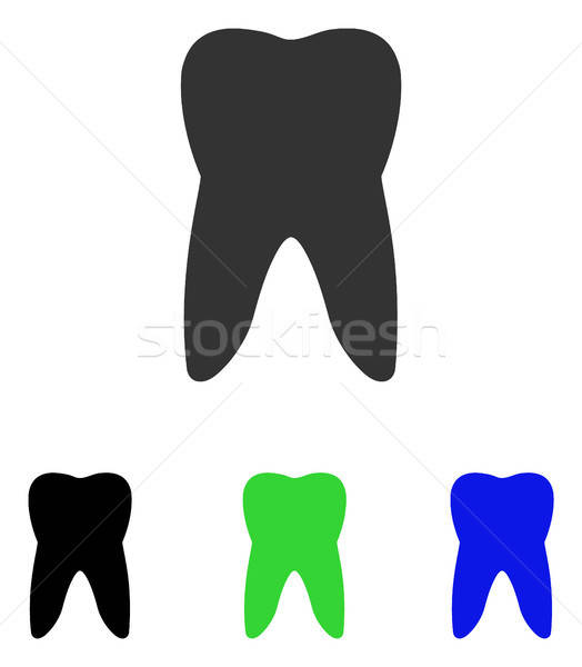 Tooth Flat Vector Icon Stock photo © ahasoft