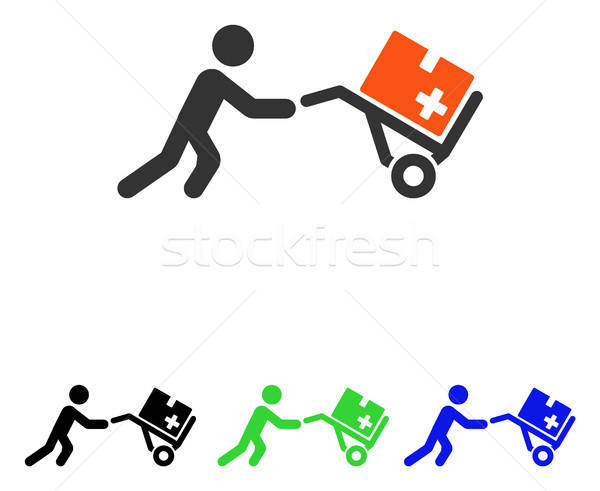 Medical Shopping Cart Flat Vector Icon Stock photo © ahasoft