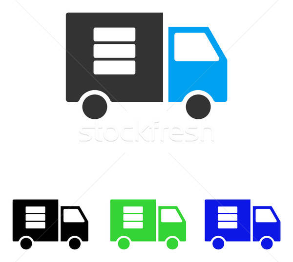 Datos transferir van vector icono ilustración Foto stock © ahasoft