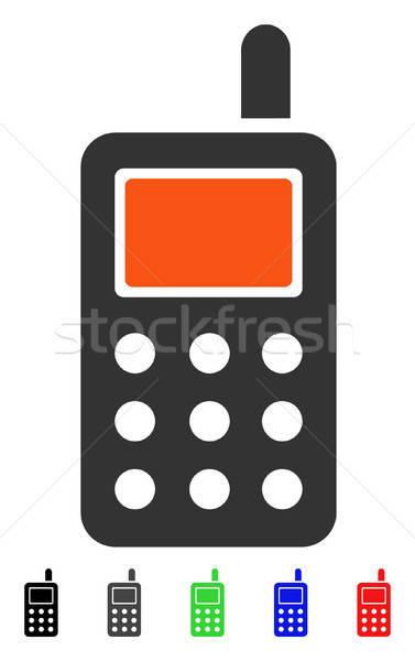 Téléphone portable icône couleur noir gris Photo stock © ahasoft