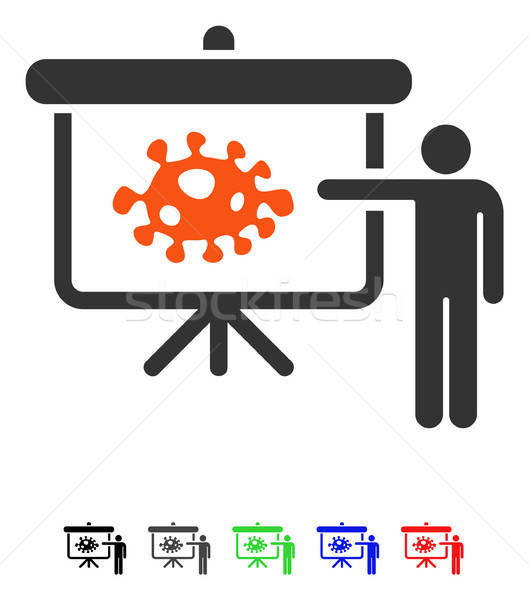 Bacteria Lecture Flat Icon Stock photo © ahasoft
