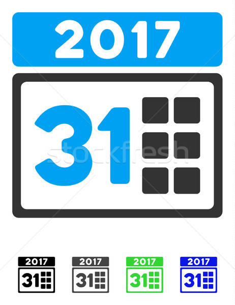 2017 Year Last Month Day Flat Icon Stock photo © ahasoft