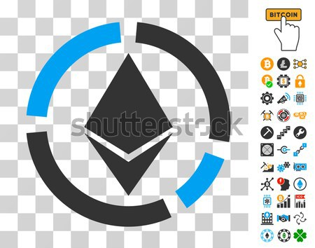 Ethereum Collaboration Flat Icon Stock photo © ahasoft