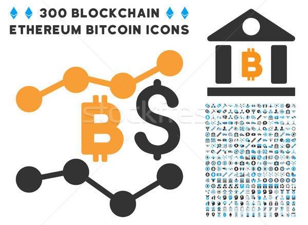 Bitcoin dólar tendencias icono inteligentes contrato Foto stock © ahasoft
