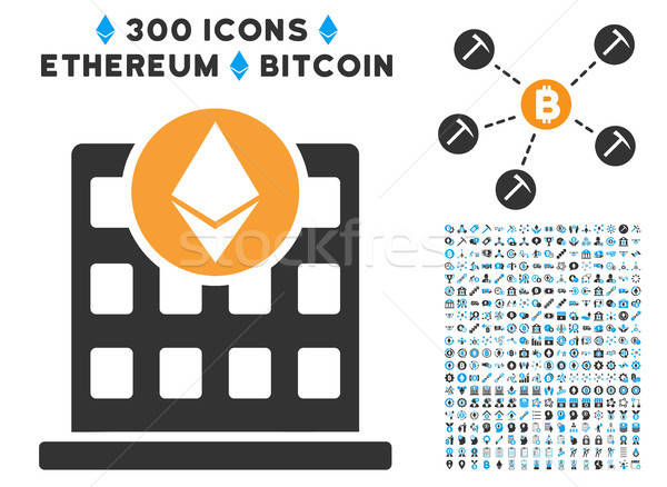 Ethereum Corporation Office Flat Icon with Clip Art Stock photo © ahasoft