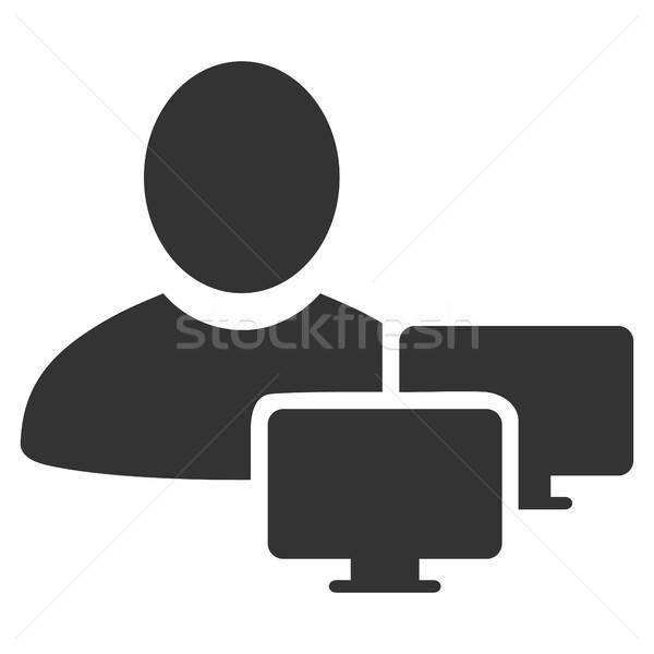 Számítógép adminisztrátor ikon vektor stílus grafikus Stock fotó © ahasoft