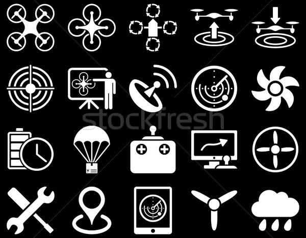 Stockfoto: Lucht · tool · iconen · stijl · vector