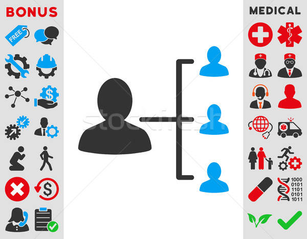 Hasta ilişkileri ikon vektör stil simge Stok fotoğraf © ahasoft
