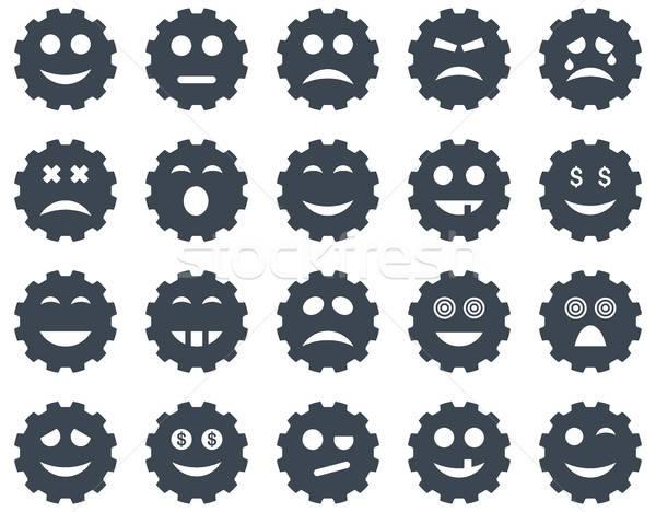 Gear emotion icons Stock photo © ahasoft