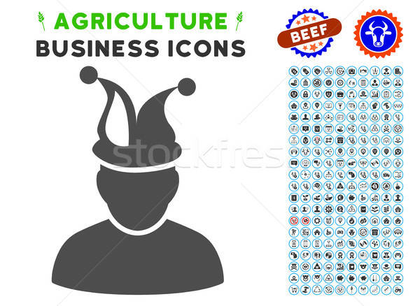 Fool Icon with Agriculture Set Stock photo © ahasoft