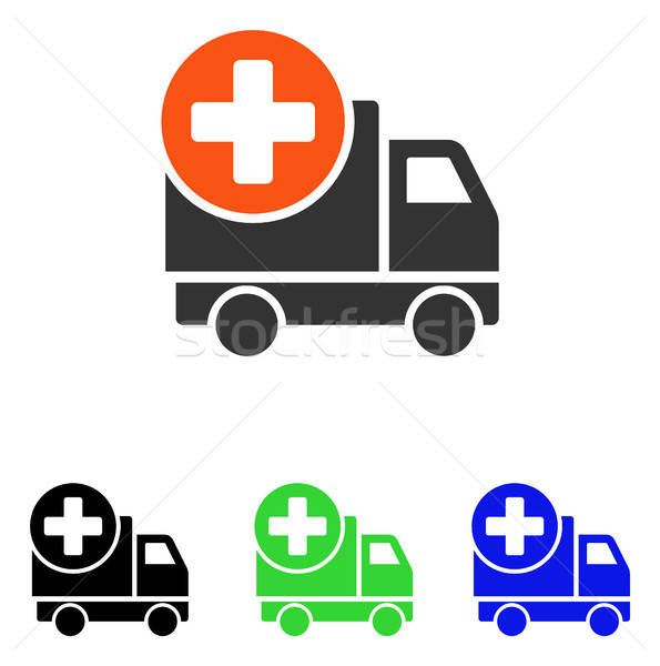 Medical Delivery Flat Vector Icon Stock photo © ahasoft