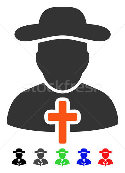 Cleric Flat Icon Stock photo © ahasoft