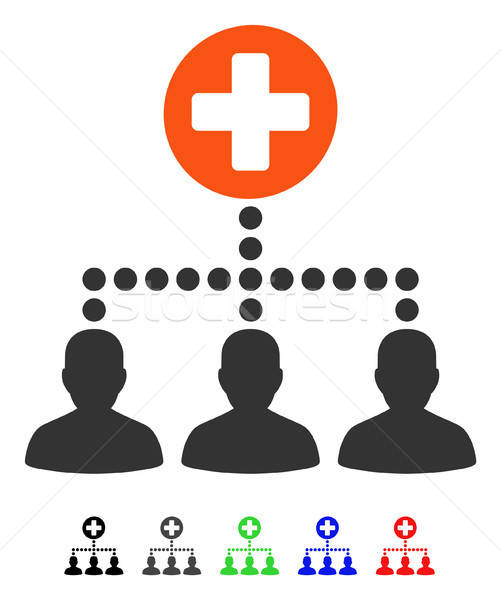 Tıbbi müşteri linkler ikon vektör renkli Stok fotoğraf © ahasoft