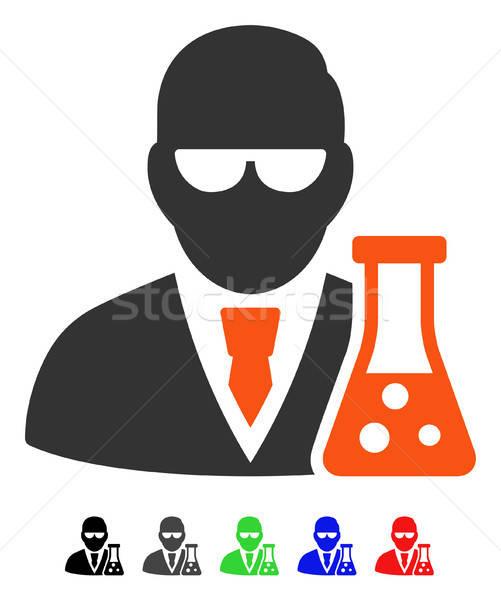 Scientifique icône vecteur couleur Photo stock © ahasoft