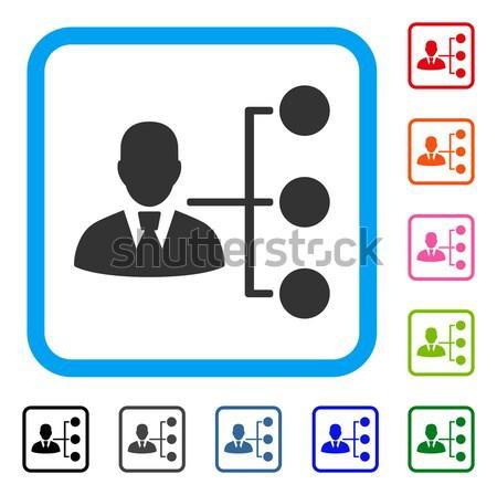 ディストリビューション マネージャ アイコン ベクトル スタイル グラフィック ストックフォト © ahasoft