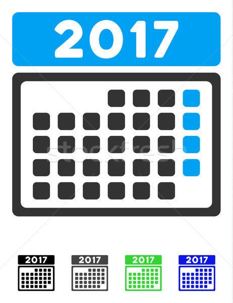 Hónap naptár oldal ikon vektor szürke Stock fotó © ahasoft