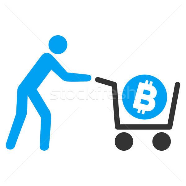 Bitcoin Purchase Cart Flat Icon Stock photo © ahasoft