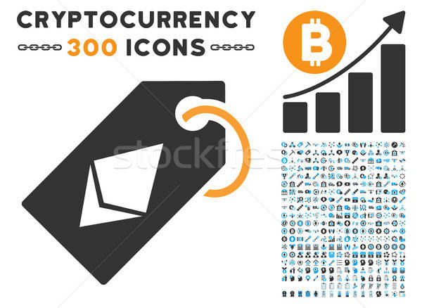 Ethereum Tag Flat Icon with Stock photo © ahasoft